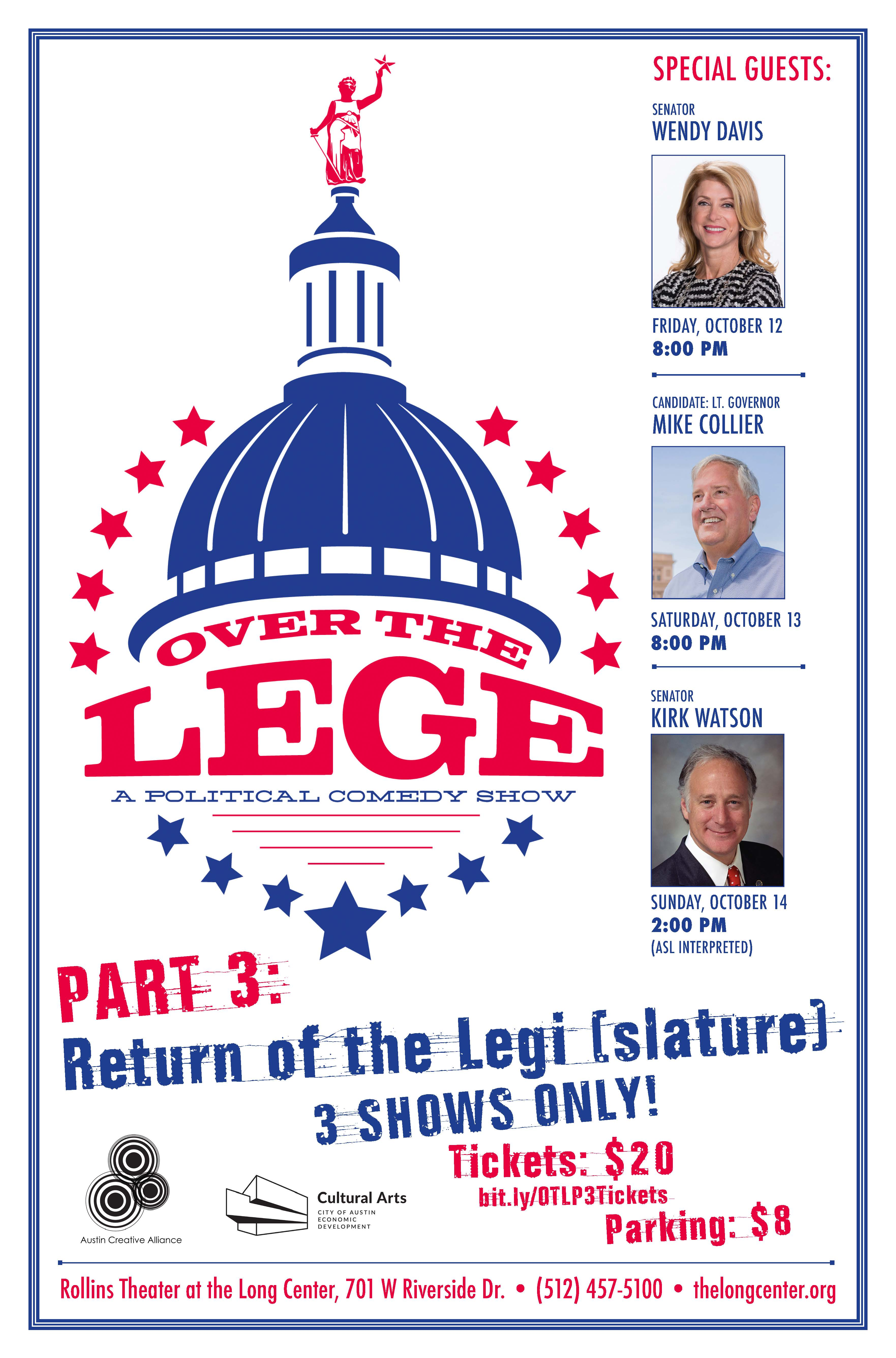 Poster for the Over the Lege comedy show