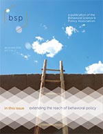 Cover of the Behavioral Science and Policy journal