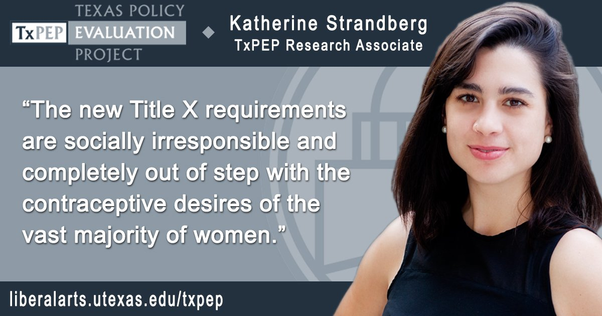 Katherine Strandberg (MPAff '15) co-authored a USA Today op-ed on proposed Title X policy changes