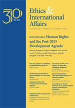 Cover of the journal Ethics & International Affairs